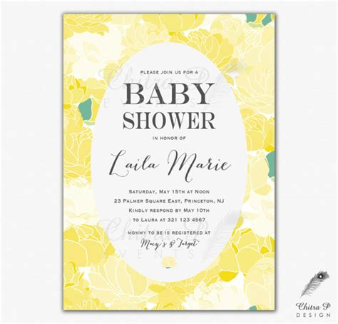 what to do on a baby shower yellow baby shower invitation printed or printable