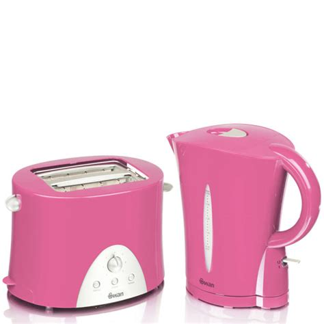 Breville Toasters Swan Kettle And Toaster Twin Pack Pink Iwoot