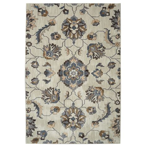Shop Allen Roth Telgany Beige Rectangular Indoor Woven 10x13 Outdoor Rug