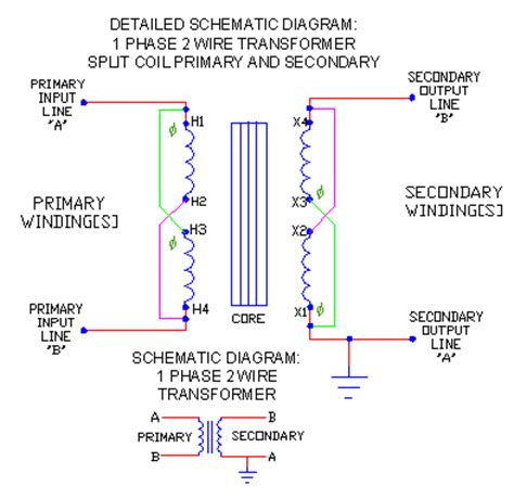 transformer wiring diagram single phase 1 phase trans schematics part 2 ecn electrical forums