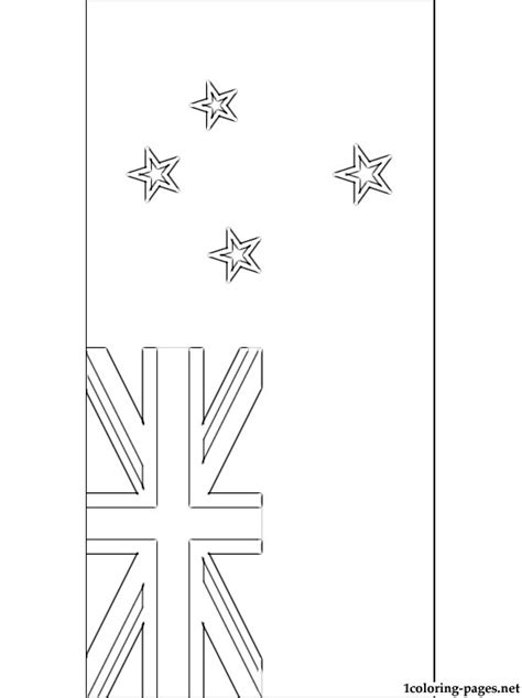 New Zealand Flag Coloring Page Coloring Pages New Zealand Flag Coloring Page