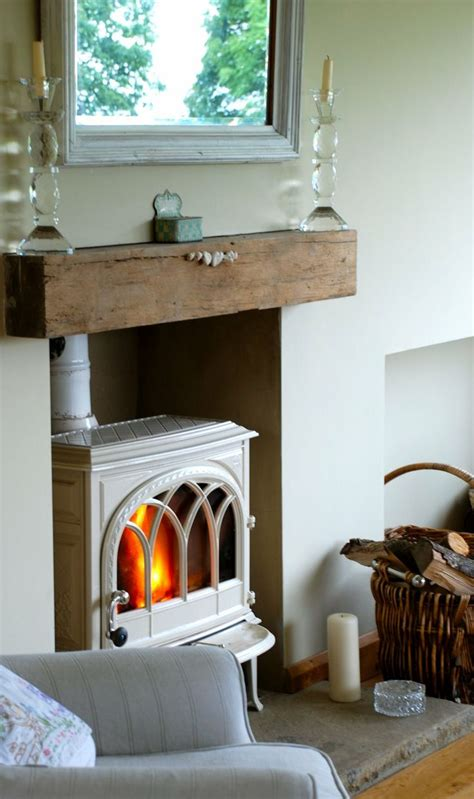 Stove Mantle Wood Burning Stove With Rustic Wood Mantle Wood Burning