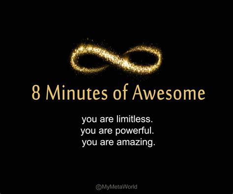 8 Awesome To On by 8 Minutes Of Awesome Stacey Hoffer