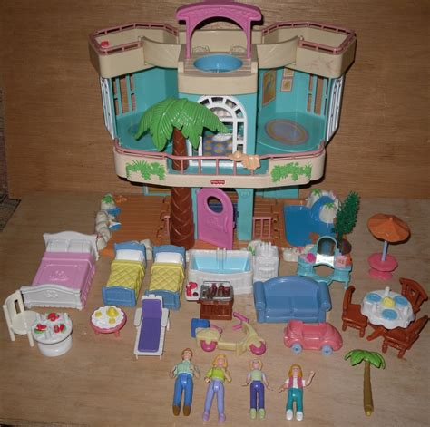 fisher price dolls house furniture fisher price sweet streets dolls furniture beach house fp