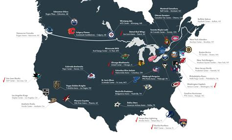nhl map i m visiting every arena in the nhl for my list russian machine never breaks