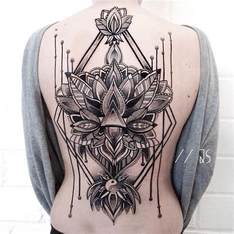 ornamental mandala back tattoo best tattoo design ideas