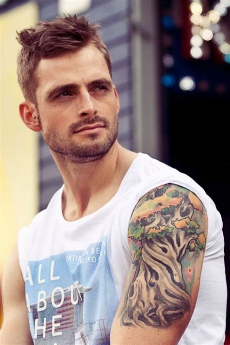 tree shoulder sleeve tattoo tattoos pinterest