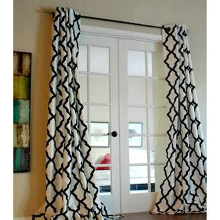 Black And White Lattice Curtains Black And White Trellis Bold Flocked Curtain Panel