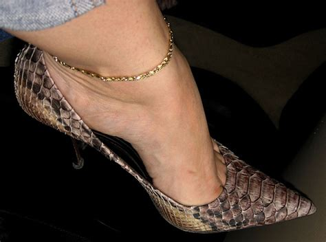 high heel arch high arch and toe clevage in snakeskin a photo