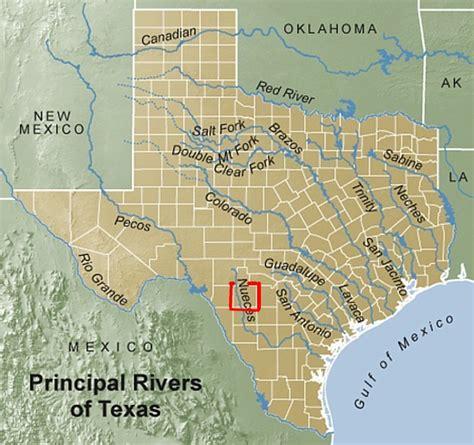 Nueces Tx Search Nueces River Map Laminatoff