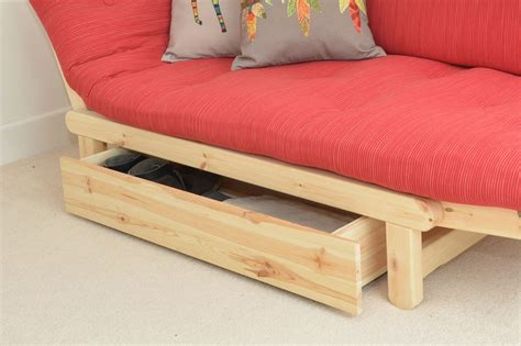 under sofa storage under sofa bed drawer in pine futon company