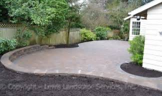 Stone Slate For Backyard Paver Patio Amp Seat Wall With Outdoor Lighting System