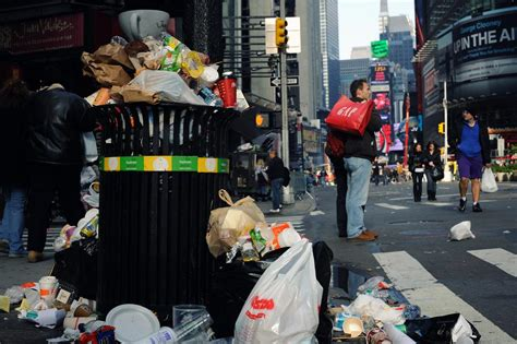 The City Digs Through Nyc Trash by Commercial Trash Cans Cleaning Services
