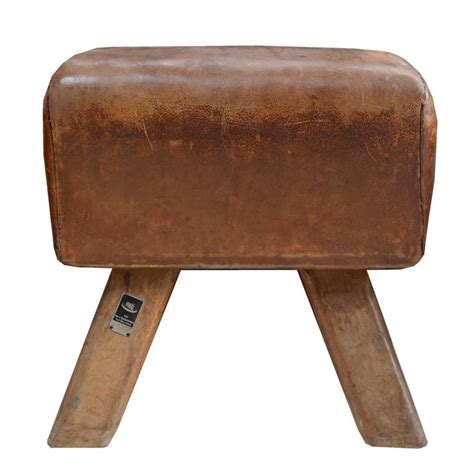 wood and leather bench wood and leather pommel horse bench for sale at 1stdibs