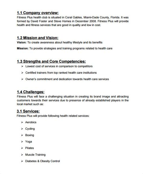spa salon business plan template 10 free sle