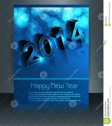 templates brochure happy new year brochure template for new year 2014 design stock photo