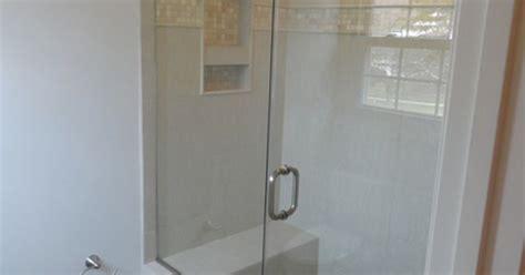 glass doors built in bench built in shower bench w framless glass shower door