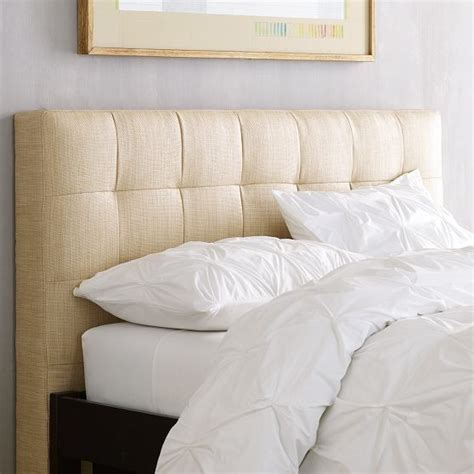 contemporary headboards grid tufted headboard contemporary headboards by west elm