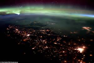 what are the northern lights called tim peake s last images of our planet capture it bathed in