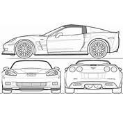 Corvette C6 Zr1 Blueprint Download Free For 3d
