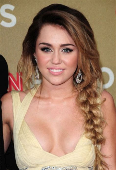 Miley Cyrus Long Side Braid   Party, Awards, Summer