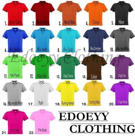 jual kaos polo polos kaos kerah polos edoeyy clothing