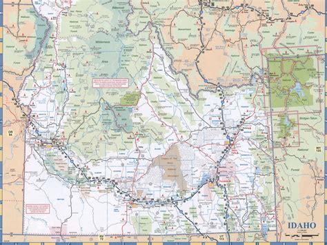 idaho on map maps of idaho