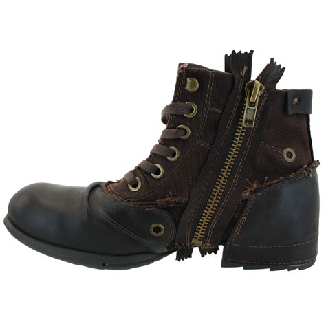 replay boots replay clutch brown mens leather zip boots shoes ebay