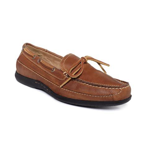 johnston murphy shoes johnston murphy trevitt boat shoes in beige for