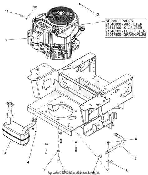 gravely    pro turn  parts diagram  engine kawasaki