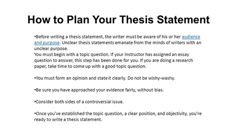 How To Write A Thesis Essay by What Is A Thesis Statement Ppt