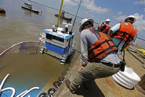 tugboat jobs sunken tugboat pulled from miss river bottom cbs news
