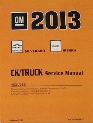 2013 Chevrolet Silverado Amp Gmc Sierra Factory Service