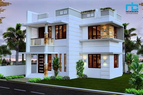 home design for 4 cent beautiful double floor house plan suit 3 cent