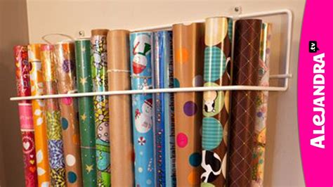 how to paper an how to organize wrapping paper