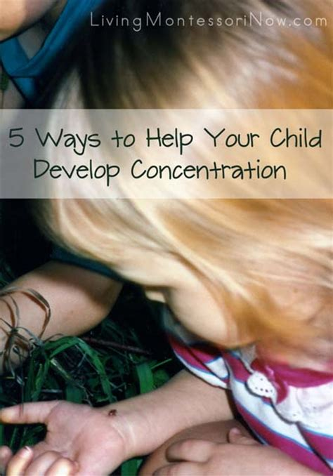 how to help your child focus and concentrate using mind maps and related techniques books montessori monday help your child develop concentration