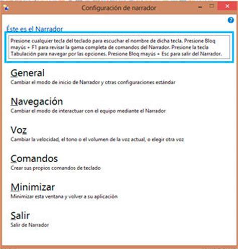 tutorial narrador windows 10 narrador aplicaci 243 n de accesibilidad para utilizar