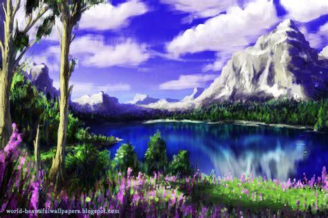 painting nature beautiful wallpapers nature painting wallpaper