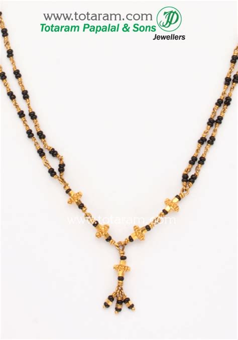 black bead necklace indian 200 best images about mangalsutra on gold
