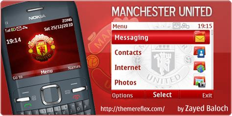 themes nokia x2 manchester united manchester united nokia c3 themes themereflex