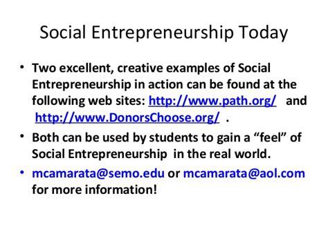 Distance Mba In Social Entrepreneurship by Social Entrepreneurship Pp Ts Gen Intro