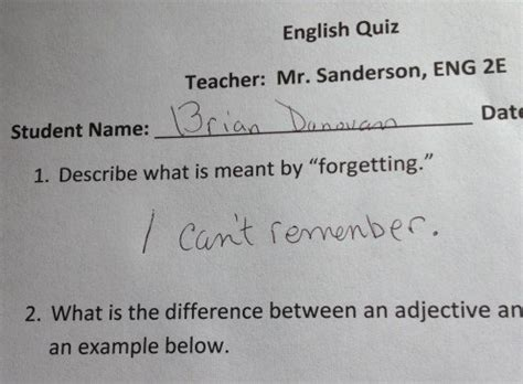 test answers given by junior high students wehavekids