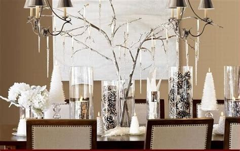 Dining Room Table Winter Centerpieces Winter Dining Room Table Centerpiece Home Decor