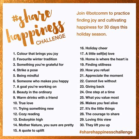 30 day positivity challenge happiness challenge bot communications