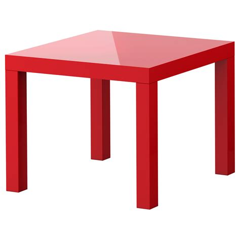 ikea table lack side table high gloss red 55x55 cm ikea