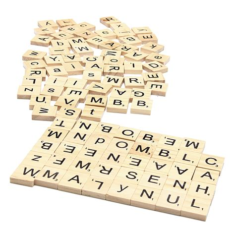 wooden scrabble letter tiles 100pcs school wooden scrabble tiles letters wedding