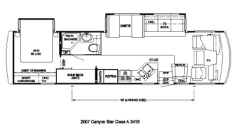 newmar rv floor plans 2007 newmar canyon star csca 3410 floorplan