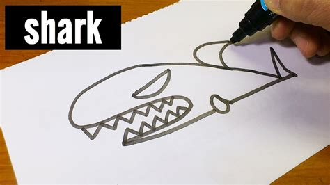 how to draw a doodle shark easy how to draw doodle using letters quot shark
