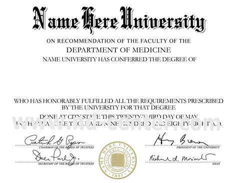 phd diploma template template doctorate degree certificate template