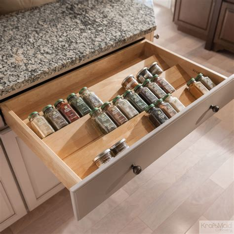 Spice Rack Drawer Insert by Kraftmaid Spice Drawer Insert Transitional Detroit